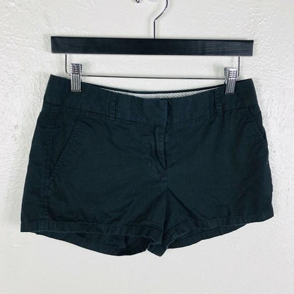 "J. Crew Pants - J Crew Size 2 Chino Shorts Black 3"" Casual Cotton"